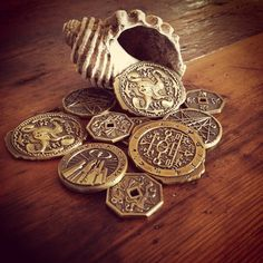 Innsmouth Gold. Beware the curse of treasure from the deeps... #callofcthulhu #hplovecraft #tabletop #coins #chaosium