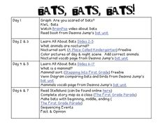 Extra Special Teaching: Bat Lesson Plans & Resources (freebie)