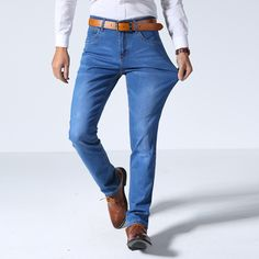 21.05$  Watch here - http://ali7cf.shopchina.info/go.php?t=32798930801 - Brand Men Jeans Size 28 to 40 Black Blue Stretch Denim Slim Fit Men Jean for Man Pants Trousers Jeans  #buyonlinewebsite