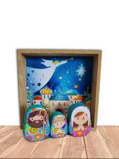 Christmas Nativity Set, Christmas Gift For You, Holy Family, Mdf Wood, Holi, Christmas Decorations, Scene, Creative, Modern