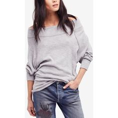 696bf803c4 Free People Palisades Off-The-Shoulder Sweater ($68) ❤ liked on Polyvore