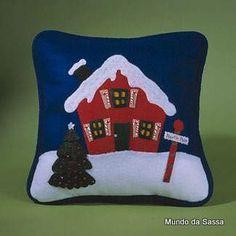 Cojin Casita de Navidad con moldes
