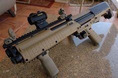 Kel-Tec KSG Shotgun. Load it with buck-shot and slugs. Switch between the two on the fly  #SwatExchange www.SwatExchange.com.