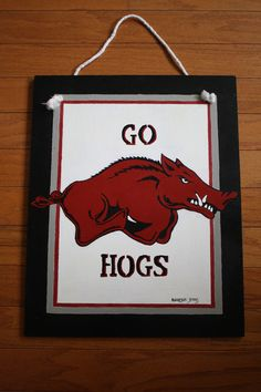 Arkansas Razorbacks Door Decor  For sale on Etsy.com