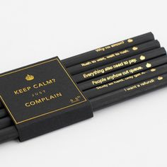 Complain King Pencils Office Works, Black Gold, It Works, Pencil, King, Personalized Items, Teacher