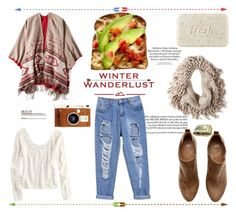 """Winter Wanderlust with American Eagle: Contest Entry"" by bloploop ❤ liked on Polyvore featuring American Eagle Outfitters, LØMO, H&M, Fresh and aeostyle"