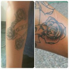 Heart and roses in progress