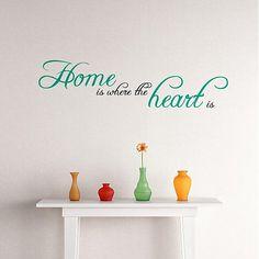 Home is where the heart is - nálepka na stenu obývačky
