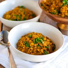 Coconut Green Curry Lentils — Pinch of Yum