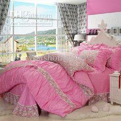 Wholesale Bed In a Bag - Buy New Arrival Hot Sale 4pcs 100%cotton BRAND Printed Queen Size Pink Bedroom Bedsheet Bedlinen Bedding Sets Duvet Cover Set,comforter Set, $66.0 | DHgate