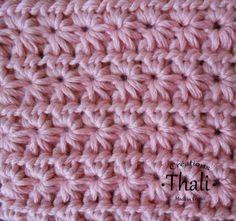 Technique de crochet : le point étoile, My Crafts and DIY Projects Crochet Scarf Diagram, Stitch Crochet, Crochet Diy, Tunisian Crochet, Crochet Granny, Irish Crochet, Crochet Motif, Double Crochet, Crochet Patterns