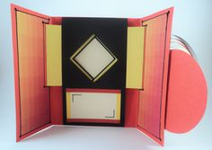 This beautiful handmade card is perfect for occasions such as Birthdays, Anniversaries, Weddings, Mother's day or as a Congratulations or Thank you card.  This is a quilled shutter card which contains a hidden panel where you can write a custom message or stick a picture that reveals itself as you open the card.