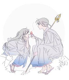 Sango y miroku OwO , [post_tags Inuyasha Fan Art, Kagome And Inuyasha, Miroku, Kagome Higurashi, Anime Amor, Manga Anime, Otaku, Fanart, Anime Life