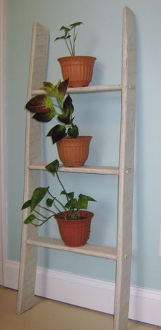 Decorative Wood Ladder Plant Stand Quilt by PineTerraceTreasures, $44.99