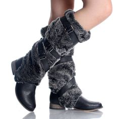 I could live somewhere cold all the time just so I could wear boots with the fur :)!