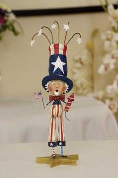 Uncle Doodle Dandy Whimsical Figure fun Patriotic decor for the 4th of July