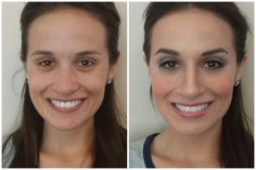 Wedding Season or Date Night Makeup. Before and after contouring & highlight with a purple smoky eye & pink lip.