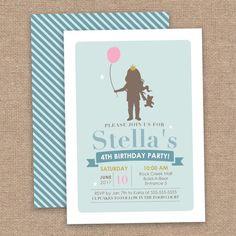 Girl Build A Bear Birthday Invitation Girl by JessicasInvites