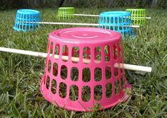 DIY Basket Agility Jumps - PetDIYs.com