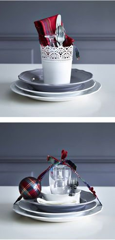 Wow them by setting your table in an unconventional way.