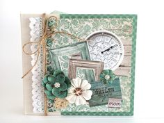 Artsy Albums Scrapbooking Kits and Custom Designed Scrapbook Albums by Traci Penrod: Kaisercraft Blue Bay Mini Album for Mother's Day