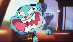 The Amazing World of Gumball Image: Facing the wind. LOL