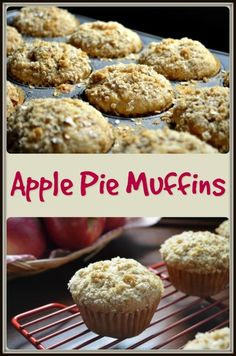 A great recipe for apple pie muffins. Your whole kitchen will smell like apple pie as they are baking in your oven. I bet you can't have just one.