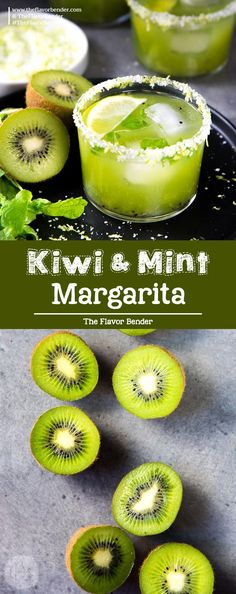 Mint Kiwi Margarita - Margarita Recipe, Fresh Margarita Recipe Recipe For Margarita! A delicious margarita with tangy kiwi fruit, and refreshing mint! Make individual cocktails or a batch mint kiwi margarita punch! Fresh Margarita Recipe, Mint Margarita, Margarita Recipes, Margarita Punch, Margarita Cocktail, Cocktail Drinks, Beste Cocktails, Summer Cocktails, Drinks Alcohol Recipes