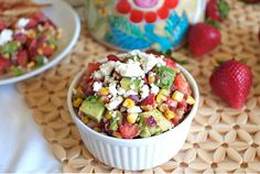 Strawberry, Roasted Corn & Avocado Salsa Recipe on FamilyFreshCooking.com — Family Fresh Cooking