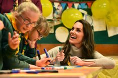 Britain's Catherine, Duchess of Cambridge, reacts as she talks with cubs during a Cub Scout Pack meeting with cubs from the Kings Lynn District, in Kings Lynn, eastern England, on December 14, 2016, to celebrate 100 years of Cubs.The Duchess attended a special Cub Scout Pack meeting with Cubs from the Kings Lynn District to celebrate 100 years of Cubs. Cub Scouting was co-founded by Robert Baden-Powell and Vera Barclay on the 16th December 1916. / AFP / POOL / BEN STANSALL        (Photo…