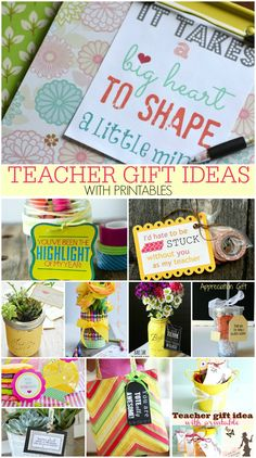 TEACHER GIFT IDEAS WITH PRINTABLES - PLACE OF MY TASTE