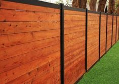 Simple and Modern Tips and Tricks: Garden Fence Spikes Wooden Fence Support Ark.Wood Fence Quotes Cost Of Front Yard Fence. Wood Privacy Fence, Privacy Fence Designs, Backyard Privacy, Diy Fence, Backyard Fences, Fence Ideas, Fence Panels, Garden Fencing, Brick Fence