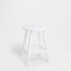 Lacquered white stool - FURNITURE - DECORATION | Zara Home United Kingdom