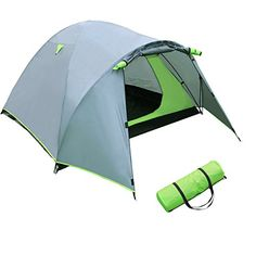 Yorbay Outdoor Waterproof Camping Dome Tent 3 Person Tent Folding