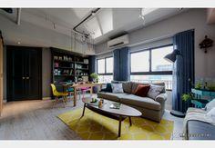 美式X工業小宅_美式風設計個案—100裝潢網 Conference Room, Table, Furniture, Home Decor, Room Decor, Home Interior Design, Desk, Tabletop, Desks