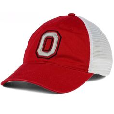 premium selection c6f26 45b38 Ohio State Buckeyes J America Block O Defender M L Mesh Back Fitted Cap