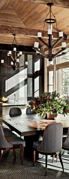 Stephen Sills Associates Aspen Colorado   Rustic Dining Room