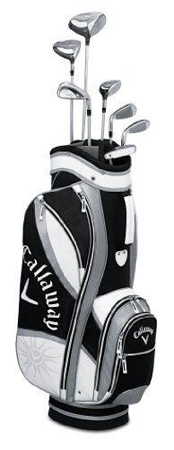Callaway Women's Solaire Gems 8-Piece Golf Complete Set (Black), Right, Ladies, Graphite