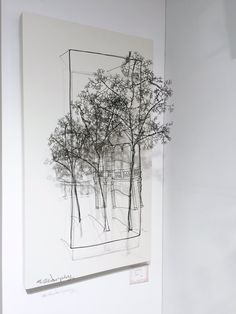 I love how this wire sculpture made it seem like a painting--yet in a 3 dimensional manner