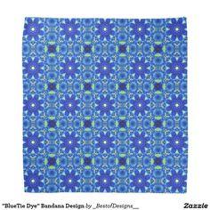 """""""BlueTie Dye"""" Bandana Design"""