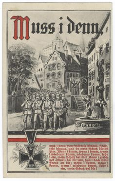 "German WWI propaganda poster ""Because I must"""