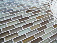 Beige Brown Warm Cool Glass Subway Mosaic Tile Kitchen Backsplash Bathroom | eBay