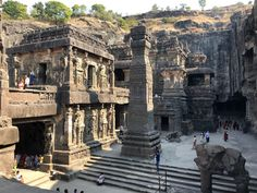 Ajanta and Ellora are two huge cave complexes carved out of the rock of the Deccan Plateau in India. They are both UNESCO world… Bodh Gaya, Ajanta Caves, Buddhist Architecture, Agra Fort, Temple India, India Gate, India Tour, Hill Station, Tourist Places