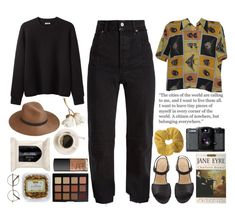 """Museum outfit"" by blackcherrypie1 ❤ liked on Polyvore featuring Acne Studios, Vetements, Morphe, NARS Cosmetics, H&M, Lomography, rag & bone and Topshop"