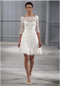 mariée, bride, mariage, wedding, robe mariée, wedding dress, white, blanc Monique Lhuillier 2014