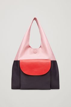 COS | Colour-block leather tote bag