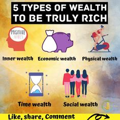 Wealth consists not in having great possessions, but in having few wants.  Five types of wealth to be truly rich🙇🏻♀️  • Inner wealth   • Economic wealth • Physical wealth • Time wealth • Social wealth #productivity #motivationalquotes #motivation #productivityhacks Productivity Hacks, Make It Through, Positive Vibes, Motivationalquotes, You And I, Wealth, Physics, Positivity, In This Moment