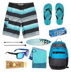 Designer Clothes, Shoes & Bags for Women Sun Bum, Blue Beach, Billabong, Oakley, Men's Fashion, Menswear, Swimwear, Polyvore, Stuff To Buy