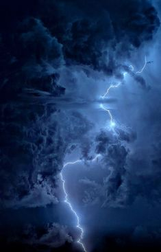 blue with lightening