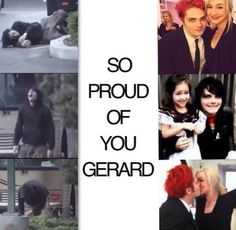 repin if you're proud of Gerard<<If you need more details, the pics on the left are from a time when he was high, drunk, super medicated, or both 95% of his conscious hours. He was depressed and suicidal, and he is now happily married with a daughter. And happy. He got sober in 19 days. If he can do it, you can too.